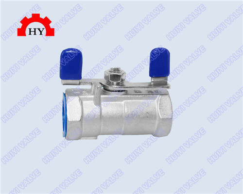 1-pc female thread ball valve with butterfly handle