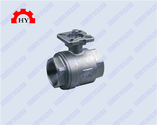 2-pc female thread ball valve with mounting pad